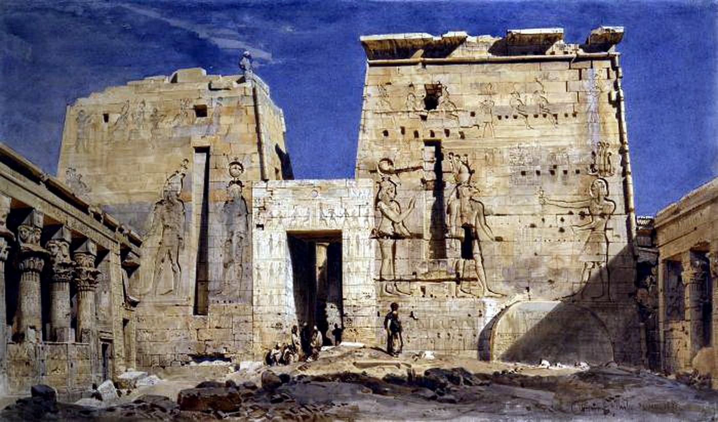 Храм Исиды на о.Филе. Карл Фридрих Генрих Вернер