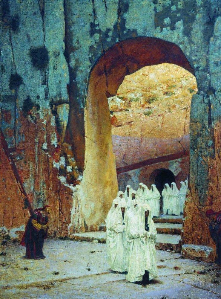 В Иерусалиме. Царская гробница. Верещагин Василий Васильевич