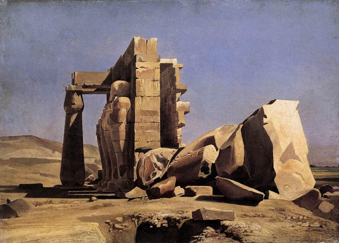 Египетский храм. Марк Габриэль Чарльз Глейр