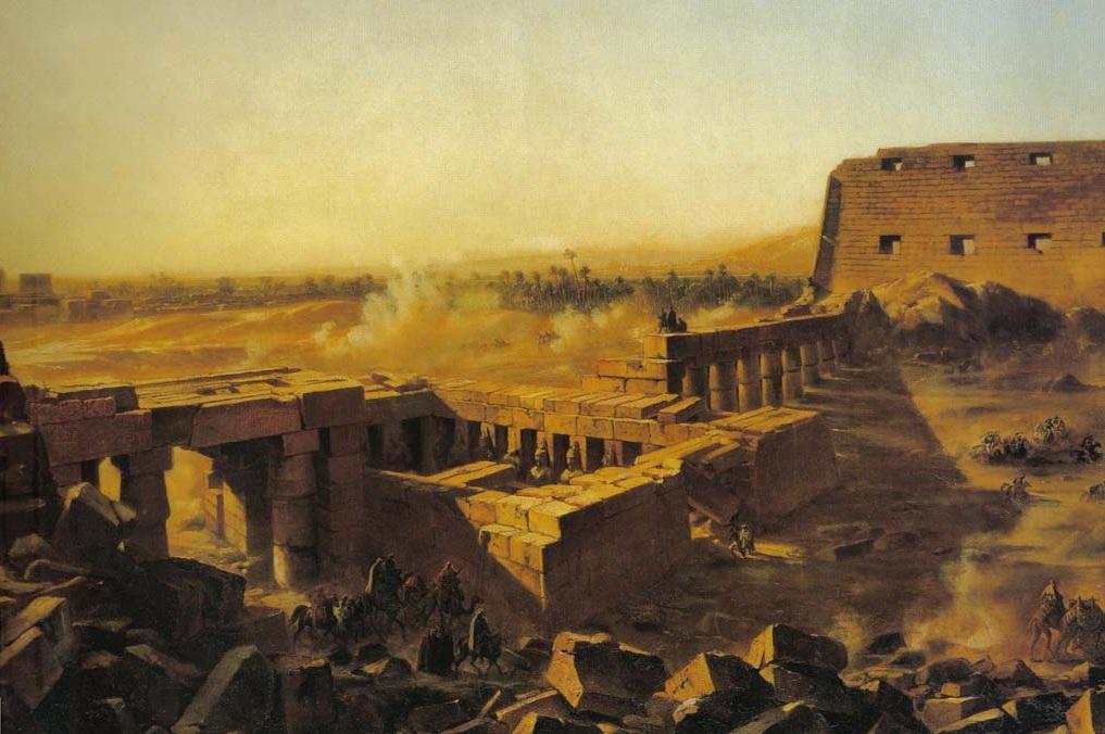 Битва в храме Карнака: Египетская кампания. Ланглуа Жан Чарльз