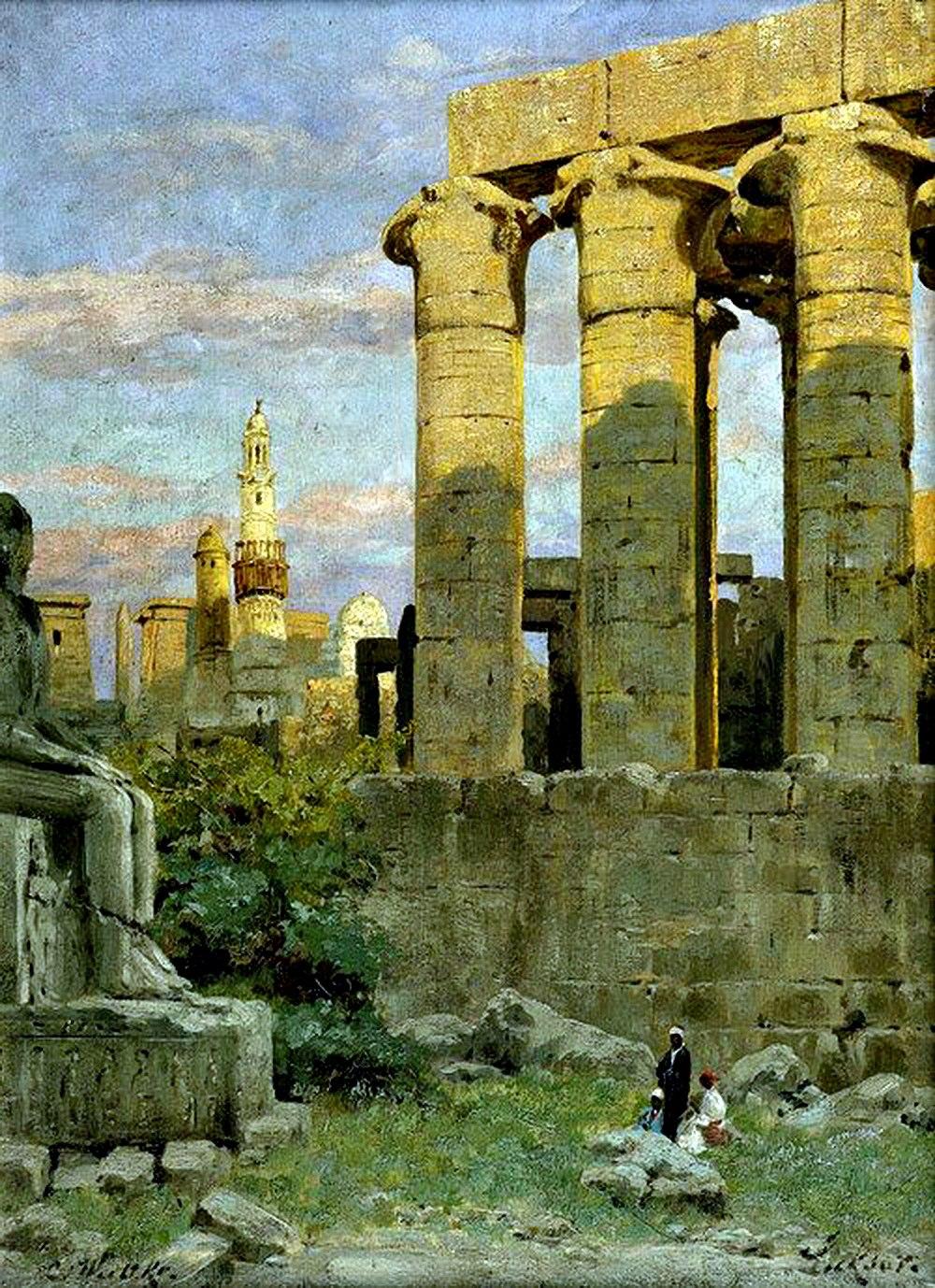 Храм в Луксоре и мечеть Абу-Эль Хаггаг. Карл Вуттке