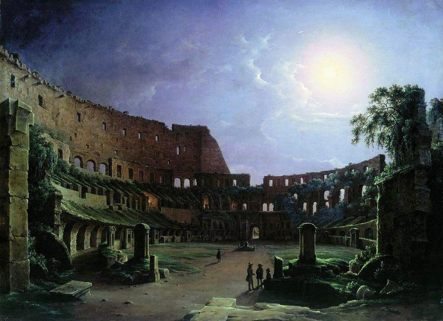 Колизей в лунную ночь. Чернецов Никанор Григорьевич