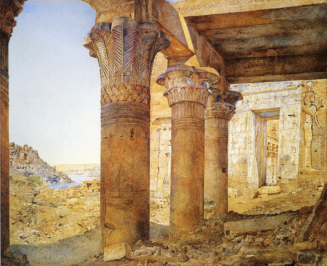 Храм на Филе, с королевского двора. Генри Родерик Ньюман