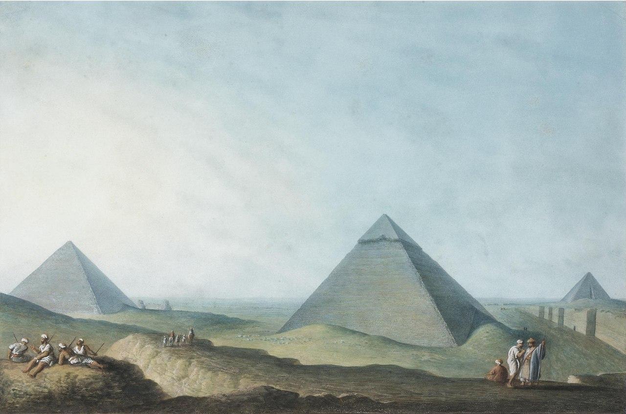 Вид на Великие пирамиды в Гизе. Луиджи Майер