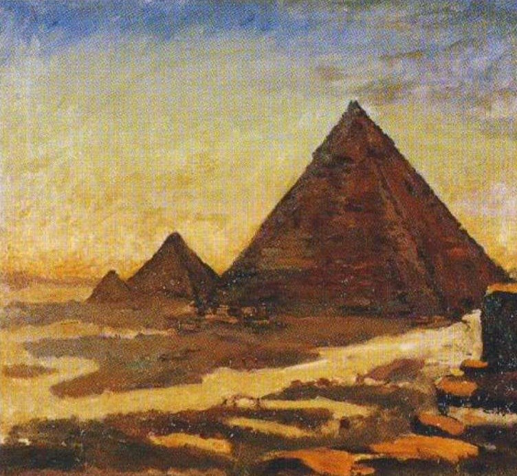 Возле пирамид. Сэр Уинстон Черчилль