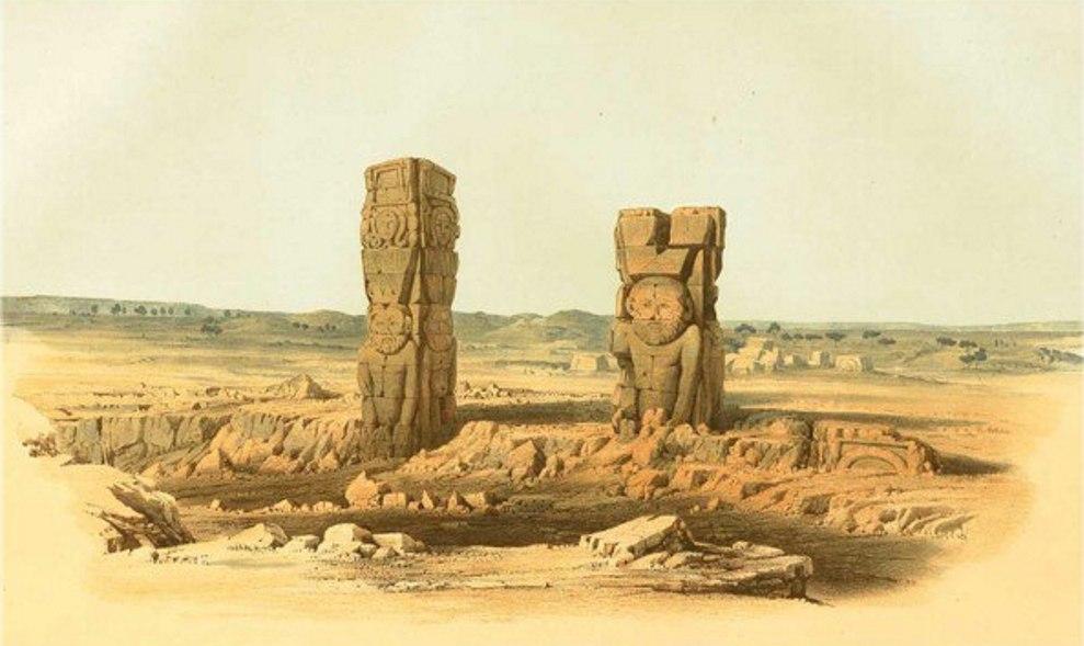 Руины храма Бен - Нага/ Эрнст Вейденбах