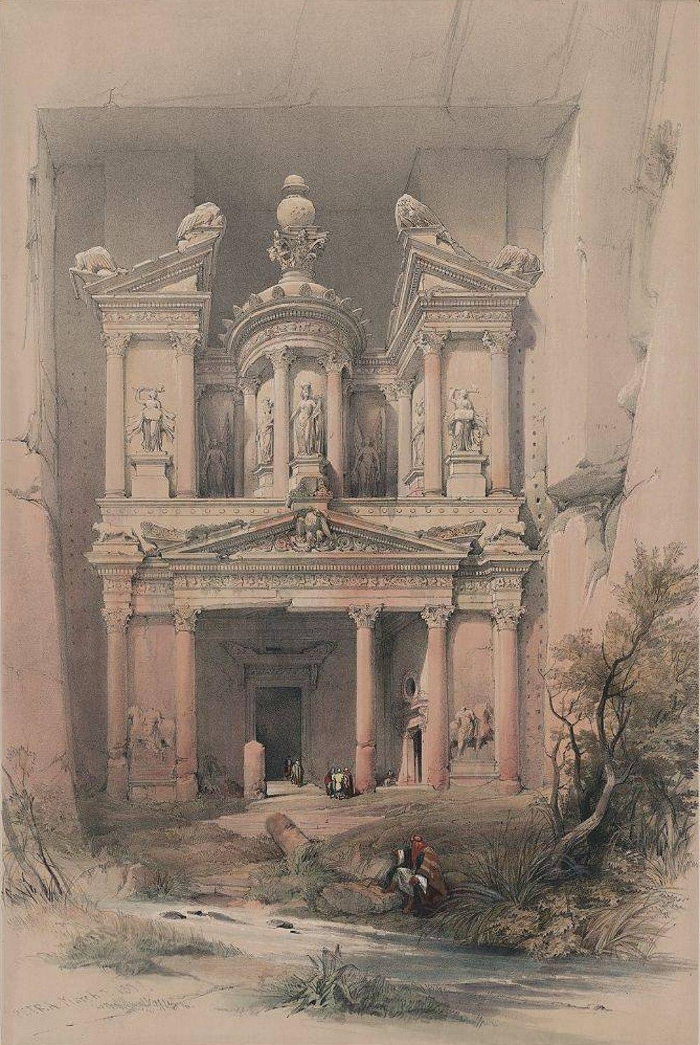 Храм Эль - Хазне. Дэвид Робертс