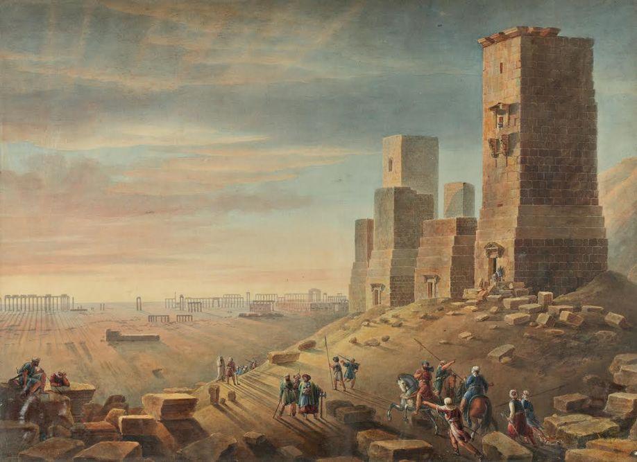 Гробницы в Пальмире. Луи Франсуа Кассас