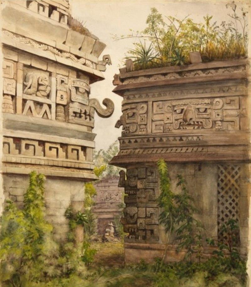 Руины пирамиды Хочикалько. Карл Симон Моргенштерн