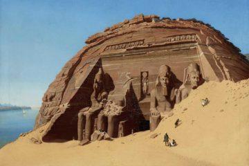 Храм Абу-Симбел в Нубии. Хьюберт Саттлер