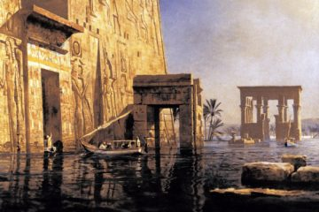 Храм Исиды на Филе во время разлива. Димер Мишель Зенон