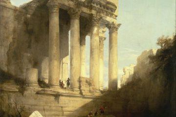 Руины храма Вакха. Дэвид Робертс