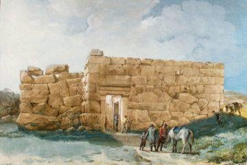 "Древний дворец (""Храм Дианы"") на холме недалеко от Чефалу (Сицилия). Жан-Пьер-Лоран Уэль"
