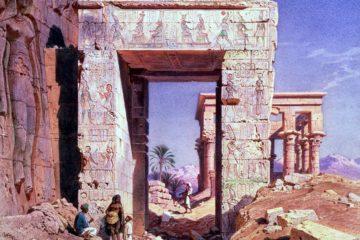 Проем из храма Исиды. Карл Фридрих Генрих Вернер