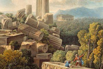 Вид на руины храма Юноны Лациния в Агридженто. Луи Франсуа Кассас