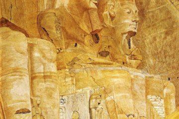 Третья и четвертая фигуры в Абу-Симбел. Генри Родерик Ньюман