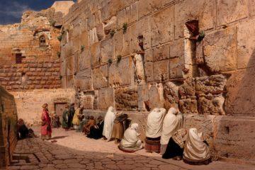 Иерусалим, западная стена (Стена Плача) . Карл Фридрих Генри Вернер