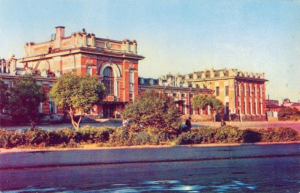 Rybinsk. The railway station building, 1971