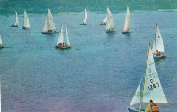 Чебоксары. Яхты на Волге, 1973 год