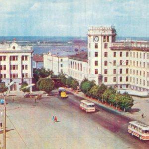 Cheboksary. Lenin Square, 1973
