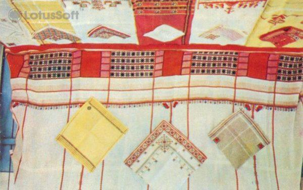 Чебоксары. Экспонаты Альгешевской фабрики художественной вышивки, 1973 год