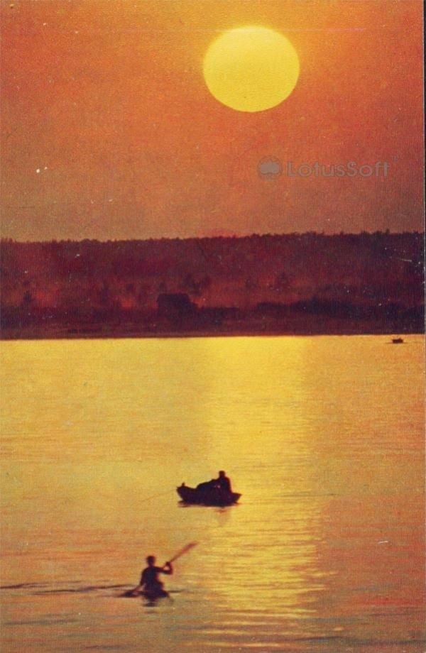 Чебоксары. Вечер на Волге, 1973 год