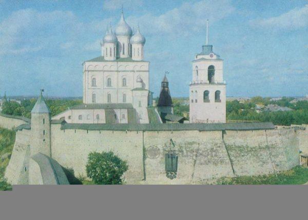 Псков. Вид на Псковский кремль. XII-XVII вв, 1983 год