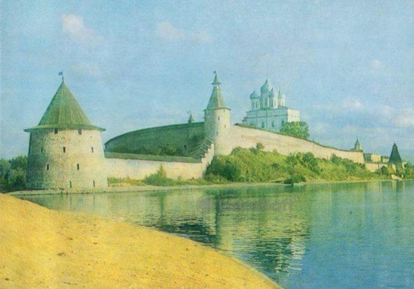 Псков. Вид на кремль с северо-запада, 1983 год