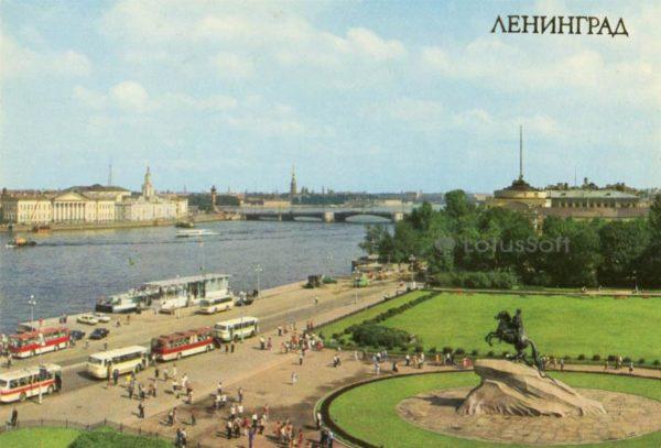 Ленинград. Панорама площади Декабристов, 1983 год