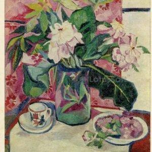Пионы. 1911 г. Н.С. Гончарова, 1975 год