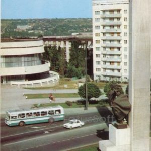 Кишинев. Площадь освобождения. Молдавия (1978 год)