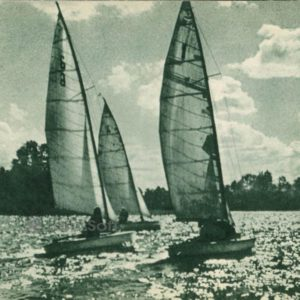 Sailing on the lakes of Trakai, 1962