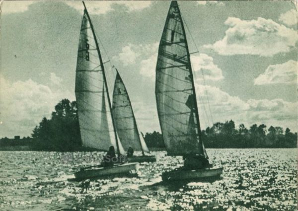 Парусный спорт на Тракайских озерах, 1962 год