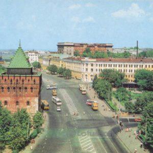 Площадь К. Минина и Д. Пожарского. Нижегородский кремль, 1985 год