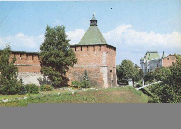 Никольская башня над Зеленским съездом, 1985 год