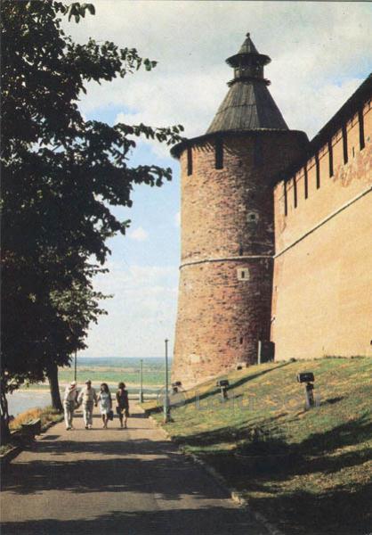 Taynitskaya tower. Nizhny Novgorod Kremlin, 1985