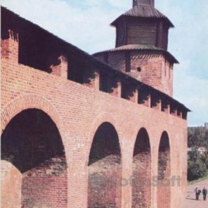 Clock tower. Interior view of the Kremlin wall, 1985