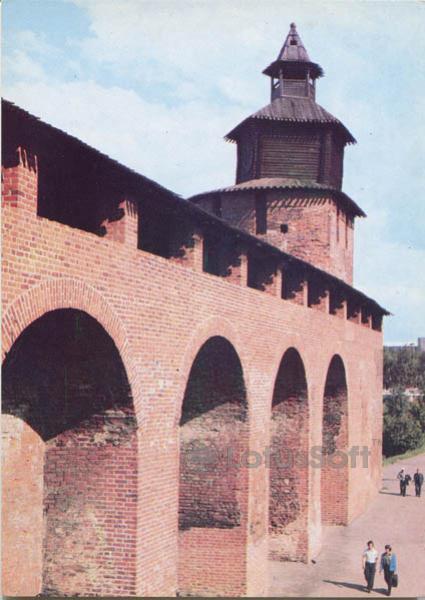 Clock tower. Interior view of the Kremlin wall, 1985