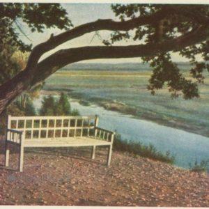 Trigorskoye. Bench Onegin, 1964