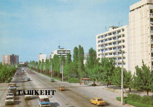 Проспект В.И. Ленина. Ташкент, 1986 год