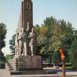 Памятник 14 туркестанским комиссарам, 1986 год