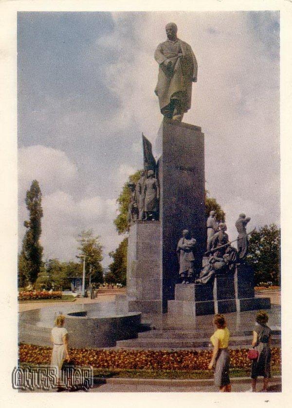 Памятник Т.Шевченко. Харьков, 1960 год