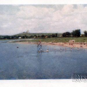 Beach on the Vorskla. Poltava, 1958