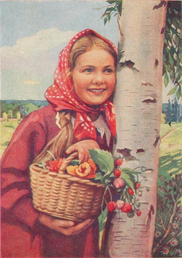 Напечатано по цветной фотографии, 1958 год