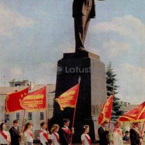 Памятник В.И. Ленину. Витебск, 1976 год