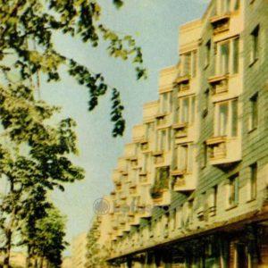Новые дома на бульваре Шевченка. Киев, 1966 год