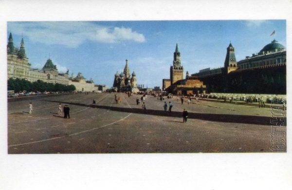 Красная площадь. Москва, 1968 год