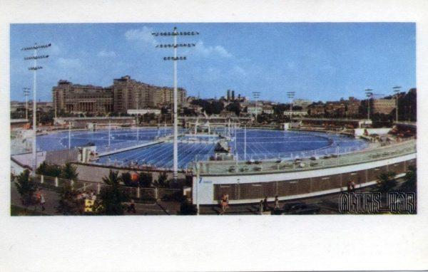 """Открытый плавательный бассейн """"Москва"""".  Москва, 1968 год"""