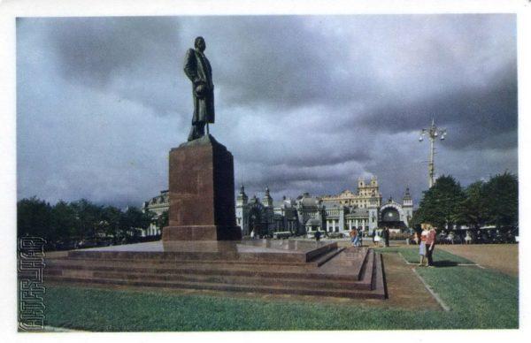 Памятник Максиму Горькому. Москва, 1968 год