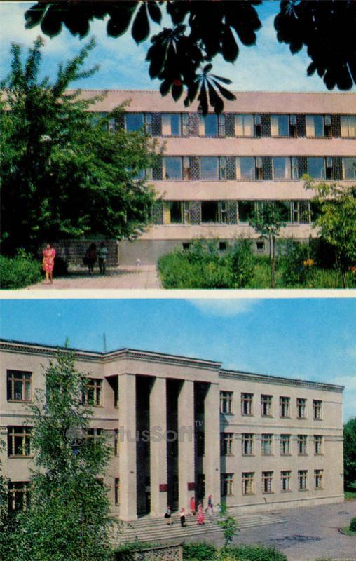 Областная библиотека имени А.М. Горького. Дом пионеров. Брест, 1973 год